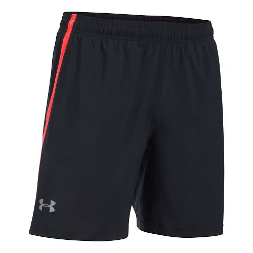 Mens Under Armour Launch SW 2-in-1 Shorts - Black/Red XL