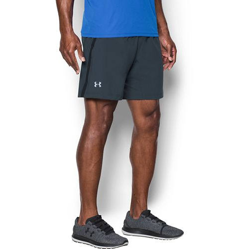 Mens Under Armour Launch SW 2-in-1 Shorts - Stealth Grey/Black XL