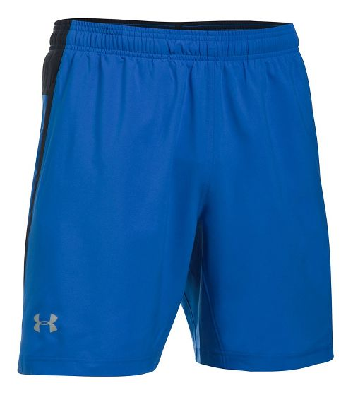 Mens Under Armour Launch SW 2-in-1 Shorts - Blue Marker/Black S