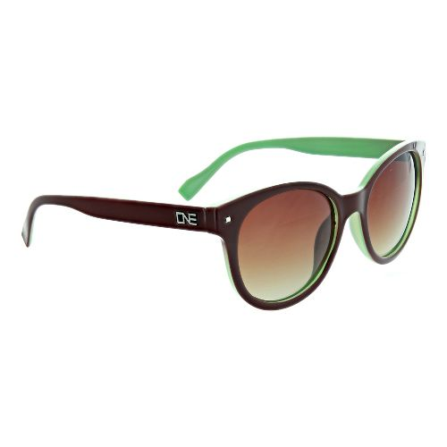 Womens One Hotplate Polarized Sunglasses - Chocolate/Mint Green