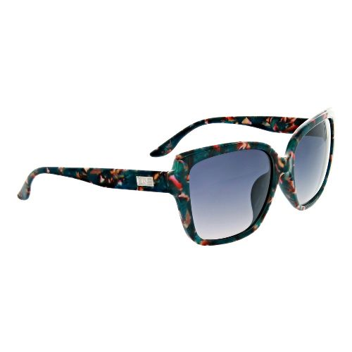 Womens One Kumari Polarized Sunglasses - Teal/Wildflowers