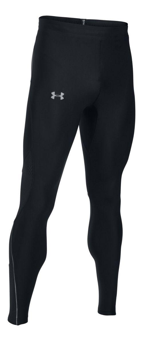 Mens Under Armour No Breaks HeatGear Novelty Tights & Leggings Pants - Black L