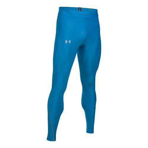 Mens Under Armour No Breaks HeatGear Novelty Tights & Leggings Pants - Brilliant Blue M