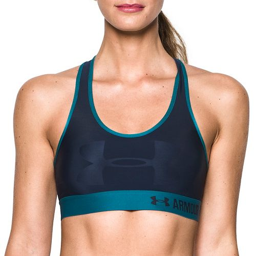 Womens Under Armour Mid  Graphic Sports Bras - Midnight Navy S