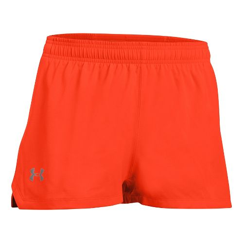 Mens Under Armour Launch SW Splits Shorts - Phoenix Fire/Grey XXL