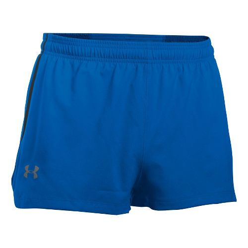 Mens Under Armour Launch SW Splits Shorts - Blue Marker/Black XL