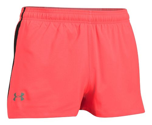 Mens Under Armour Launch SW Splits Shorts - Red/Black L