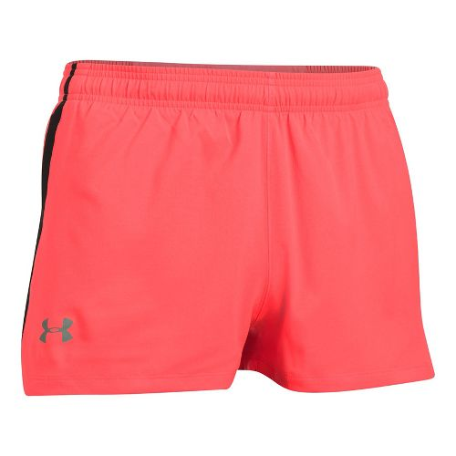 Mens Under Armour Launch SW Splits Shorts - Red/Black L