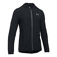 Mens Under Armour Run True SW Running Jackets - Black L