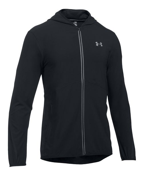 Mens Under Armour Run True SW Running Jackets - Black M