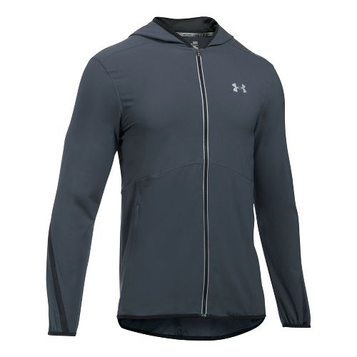 Mens Under Armour Run True SW Running Jackets - Stealth Grey/Black L