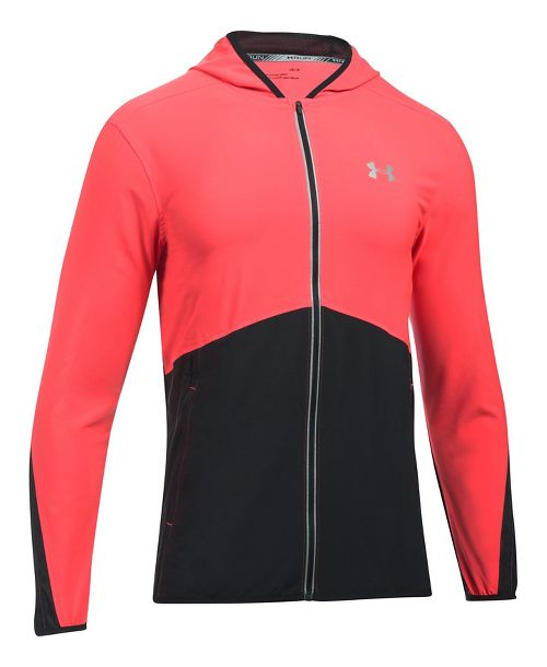 Mens Under Armour Run True SW Running Jackets - Marathon Red/Black XL