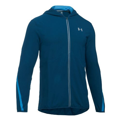 Mens Under Armour Run True SW Running Jackets - Blackout Navy/Blue XL