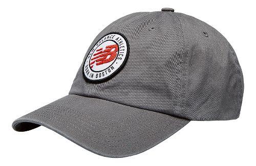 New Balance 6-Panel Curved Brim Hat Headwear - Gunmetal OS