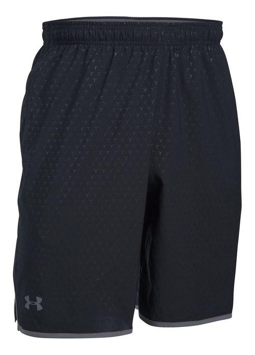 Mens Under Armour Qualifier Novelty Unlined Shorts - Black/Graphite L
