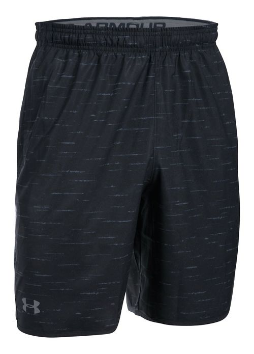 Mens Under Armour Qualifier Novelty Unlined Shorts - Black/Grey S