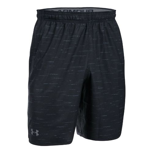 Mens Under Armour Qualifier Novelty Unlined Shorts - Black/Grey L
