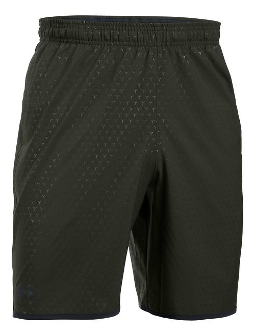 Mens Under Armour Qualifier Novelty Unlined Shorts - Army Green/Black XL