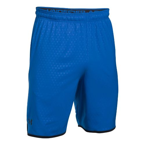 Mens Under Armour Qualifier Novelty Unlined Shorts - Blue Marker/Black 3XL