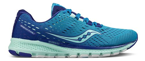 Womens Saucony Breakthru 3 Running Shoe - Blue/Mint 8