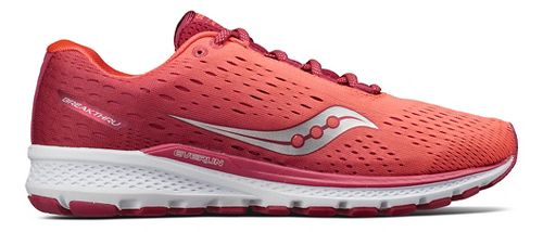 Womens Saucony Breakthru 3 Running Shoe - Berry/Coral 6.5