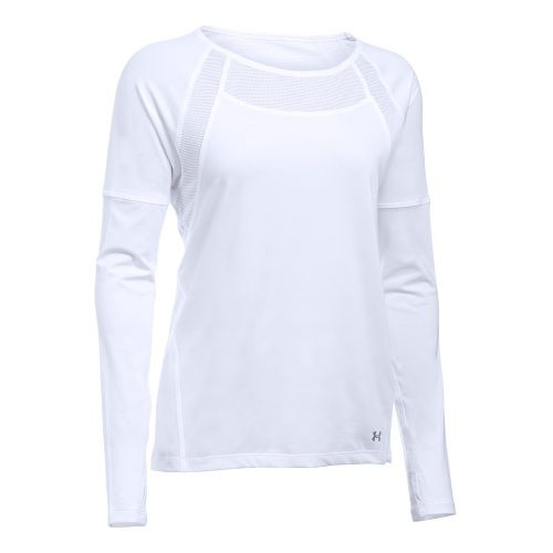 Womens Under Armour Sport Long Sleeve Technical Tops - White XS