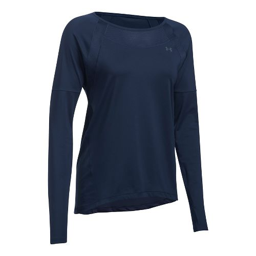 Womens Under Armour Sport Long Sleeve Technical Tops - Midnight Navy M