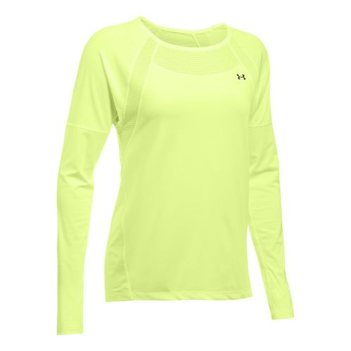Womens Under Armour Sport Long Sleeve Technical Tops - Pale Moonlight S
