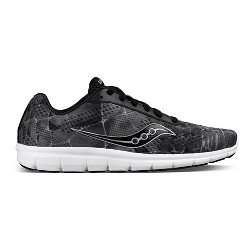 Womens Saucony Ideal Running Shoe - Black/Grey/Print 7