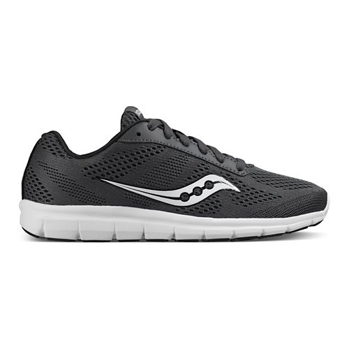 Womens Saucony Ideal Running Shoe - Grey/White 5