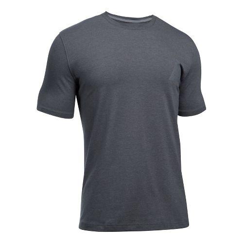 Mens Under Armour Secret Society Short Sleeve Technical Tops - Rhino Grey L