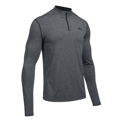 Mens Under Armour Threadborne 1/4 Zip Half-Zips & Hoodies Technical Tops - Black/Black XL