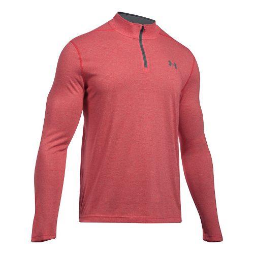 Mens Under Armour Threadborne 1/4 Zip Half-Zips & Hoodies Technical Tops - Red M