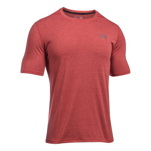 Mens Under Armour Threadborne 3C Twist Short Sleeve Technical Tops - Marathon Red S
