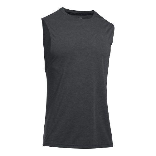 Mens Under Armour Threadborne Muscle Sleeveless & Tank Tops Technical Tops - Black L