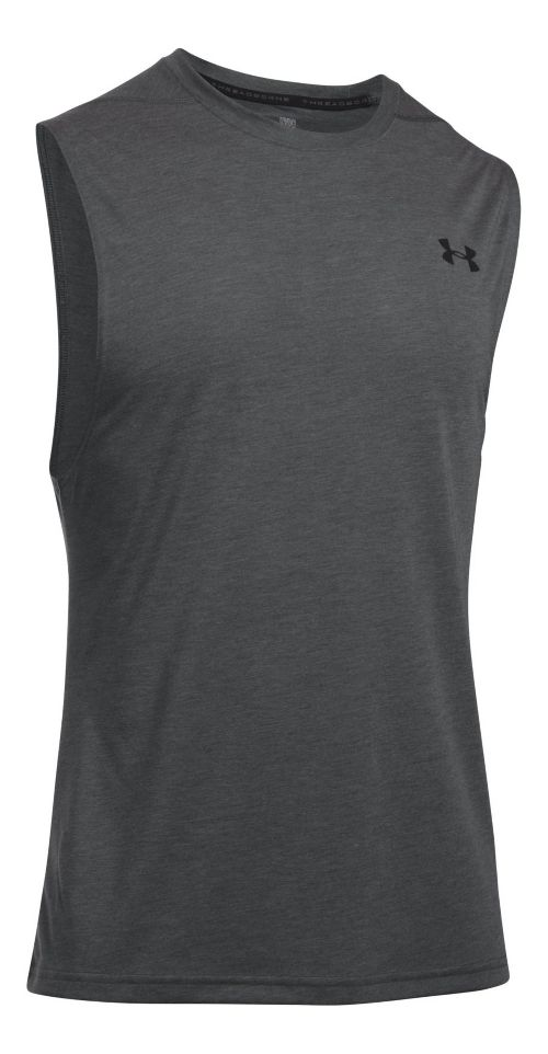 Mens Under Armour Threadborne Muscle Sleeveless & Tank Tops Technical Tops - Carbon Heather L