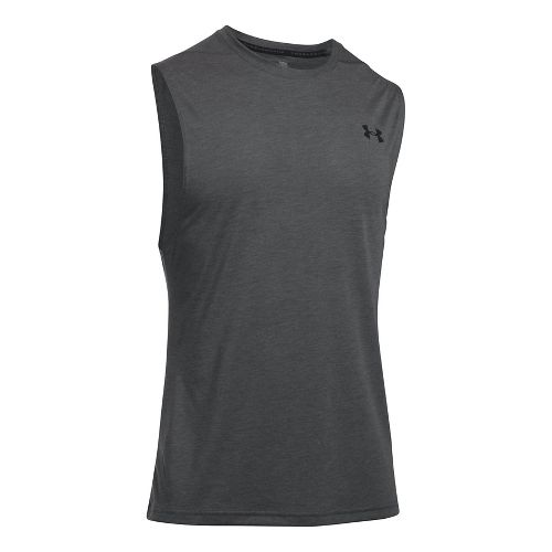 Mens Under Armour Threadborne Muscle Sleeveless & Tank Tops Technical Tops - Carbon Heather M ...