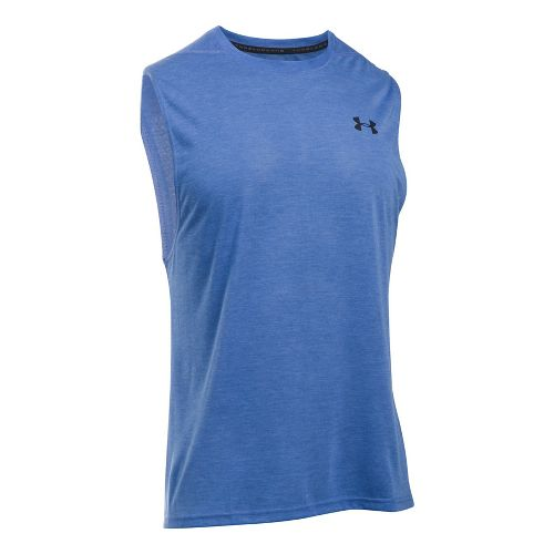 Mens Under Armour Threadborne Muscle Sleeveless & Tank Tops Technical Tops - Blue Marker XL ...