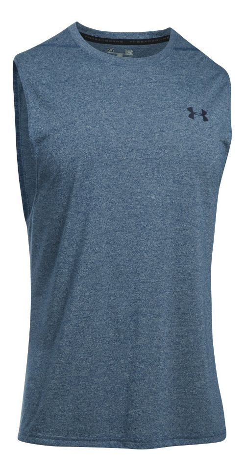 Mens Under Armour Threadborne Muscle Sleeveless & Tank Tops Technical Tops - Blackout Navy S