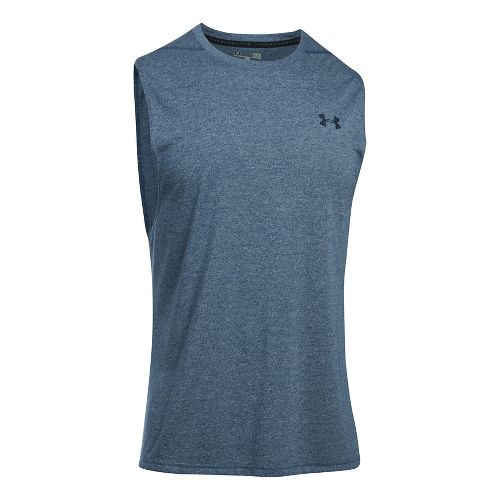 Mens Under Armour Threadborne Muscle Sleeveless & Tank Tops Technical Tops - Blackout Navy XXL ...