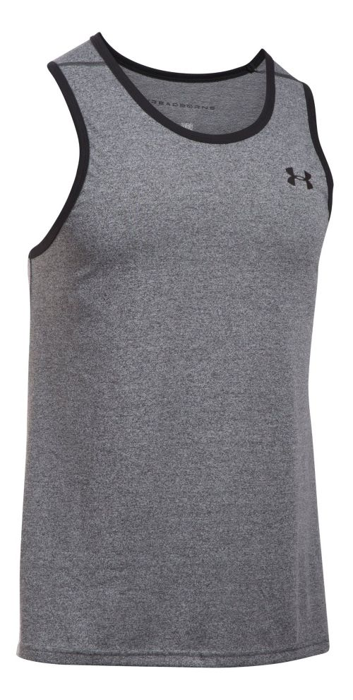 Mens Under Armour Threadborne Novelty Sleeveless & Tank Tops Technical Tops - Black XL