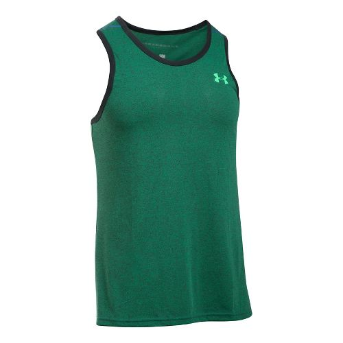 Mens Under Armour Threadborne Novelty Sleeveless & Tank Tops Technical Tops - Blue Marker L ...