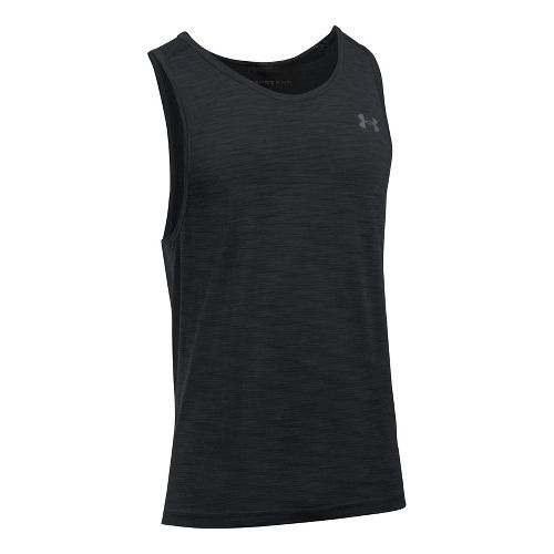 Mens Under Armour Threadborne Seamless Sleeveless & Tank Tops Technical Tops - Black/Graphite 3XL