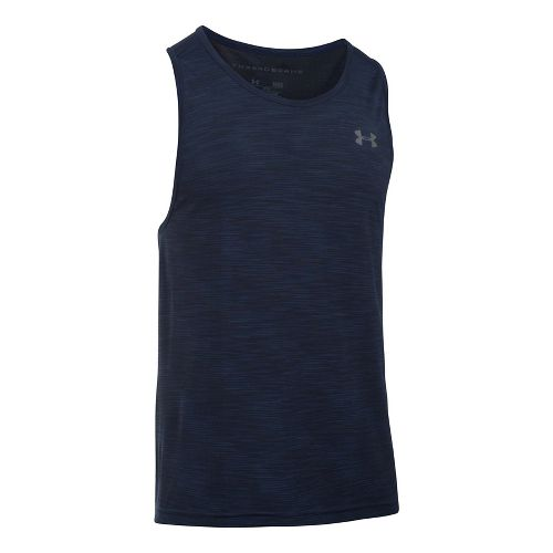 Mens Under Armour Threadborne Seamless Sleeveless & Tank Tops Technical Tops - Navy/Graphite M
