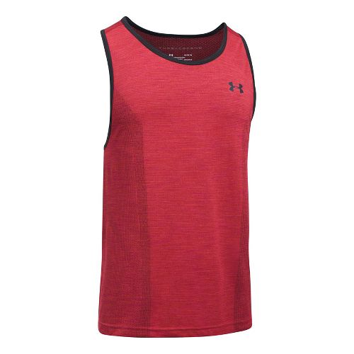 Mens Under Armour Threadborne Seamless Sleeveless & Tank Tops Technical Tops - Marathon Red XXL