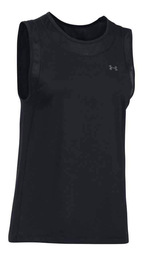 Womens Under Armour Sport Muscle Sleeveless & Tank Tops Technical Tops - Black XS
