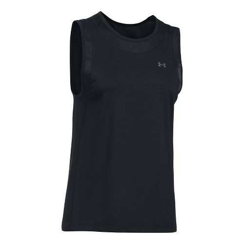 Womens Under Armour Sport Muscle Sleeveless & Tank Tops Technical Tops - Black M