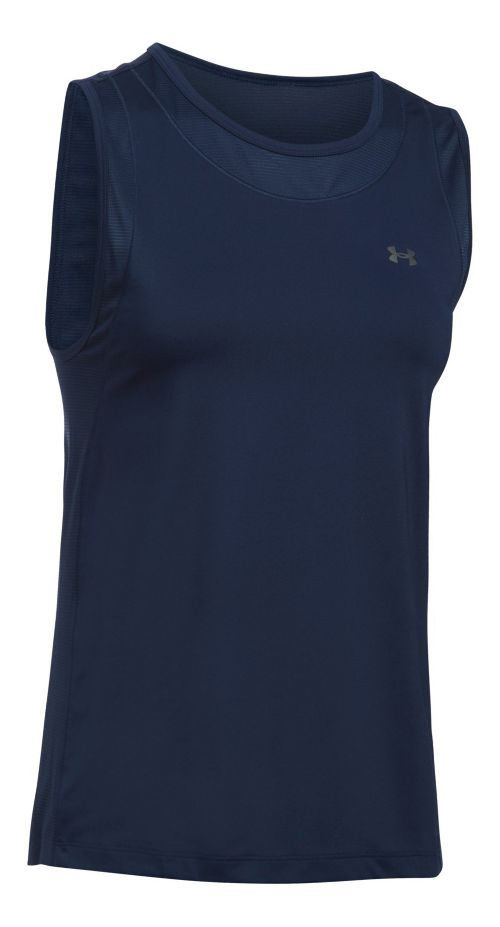 Womens Under Armour Sport Muscle Sleeveless & Tank Tops Technical Tops - Midnight Navy S