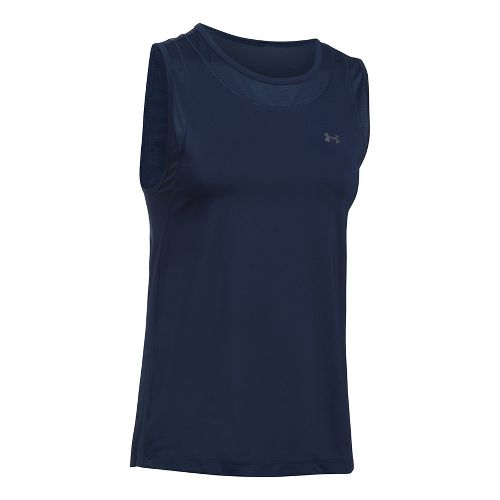 Womens Under Armour Sport Muscle Sleeveless & Tank Tops Technical Tops - Midnight Navy XL ...