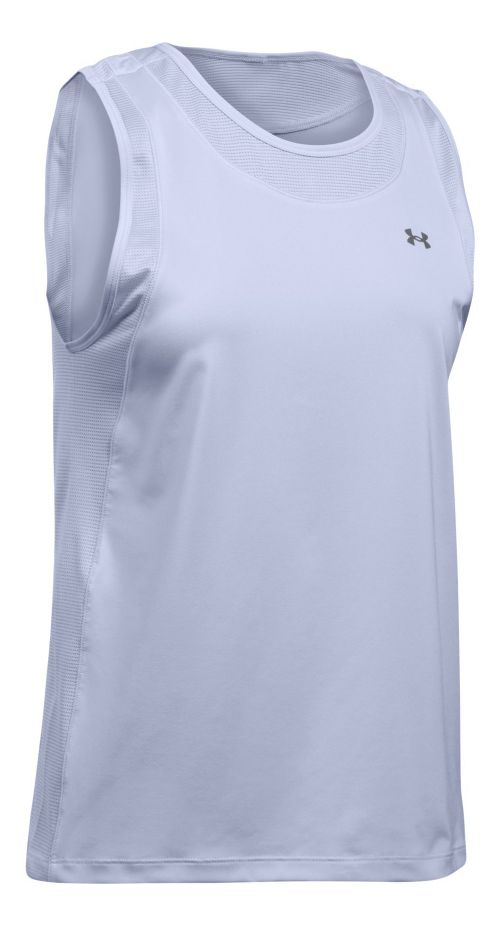 Womens Under Armour Sport Muscle Sleeveless & Tank Tops Technical Tops - Lavender Ice L ...